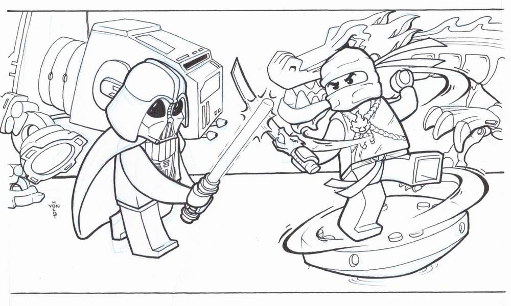 Get These Ninjago Coloring Pages Printed And Have Them Set In Front Of Your Child Let Him Pick The Choose One He Likes Then You Can Instruct