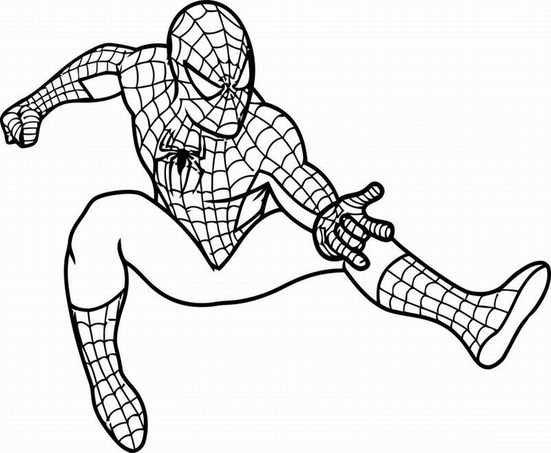 spider coloring book pages for boys - Spider Coloring Book