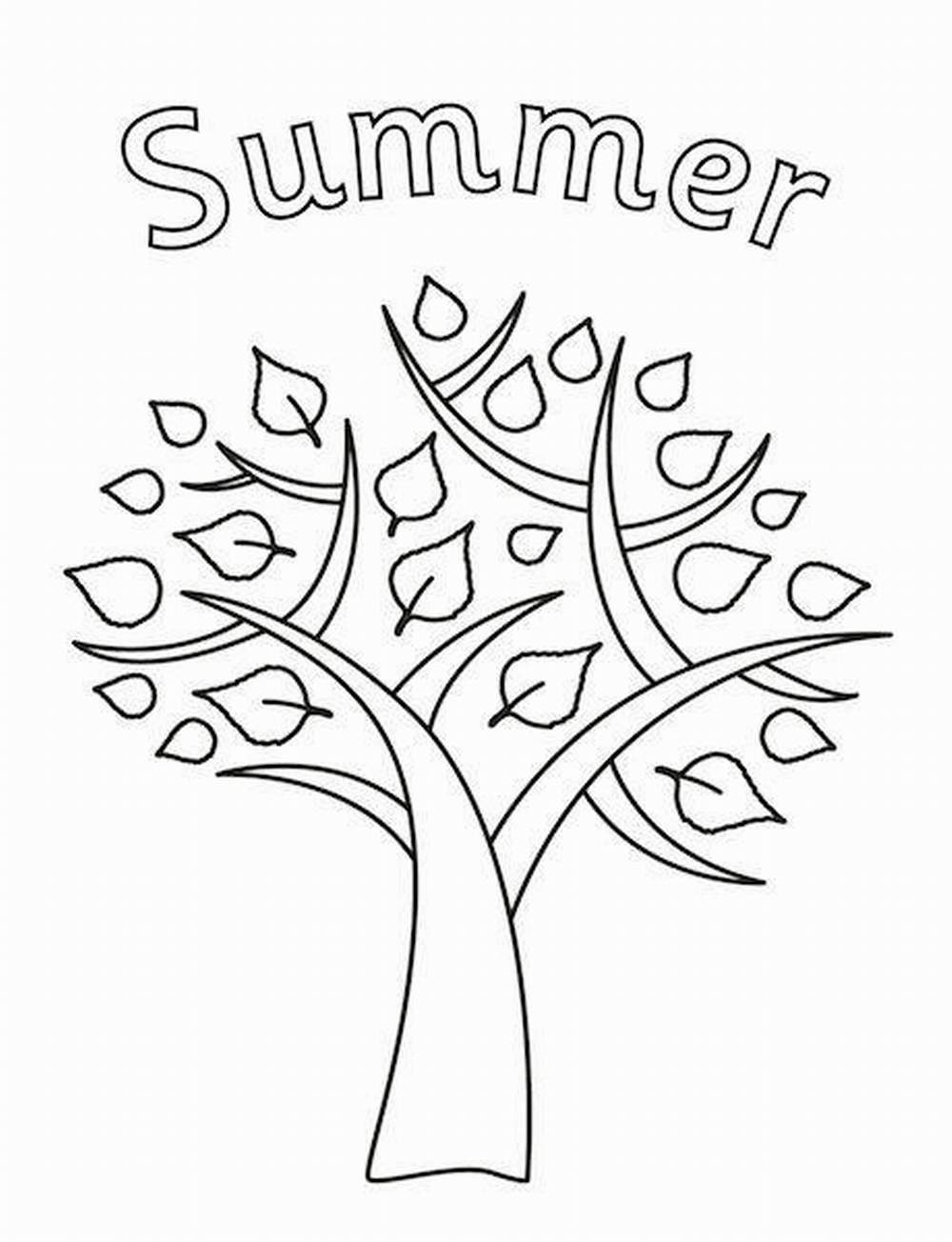 30 printable kids coloring pages for summer vacations