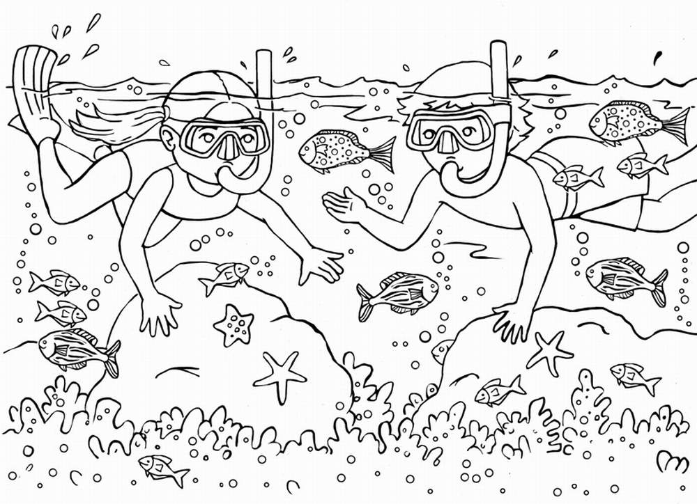 summer coloring pages summer vacation-coloring - Fun Chap