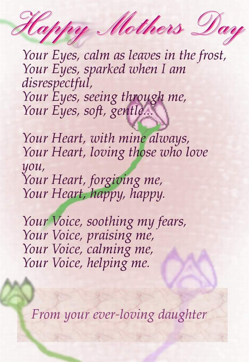 Heart touching poems for my mother