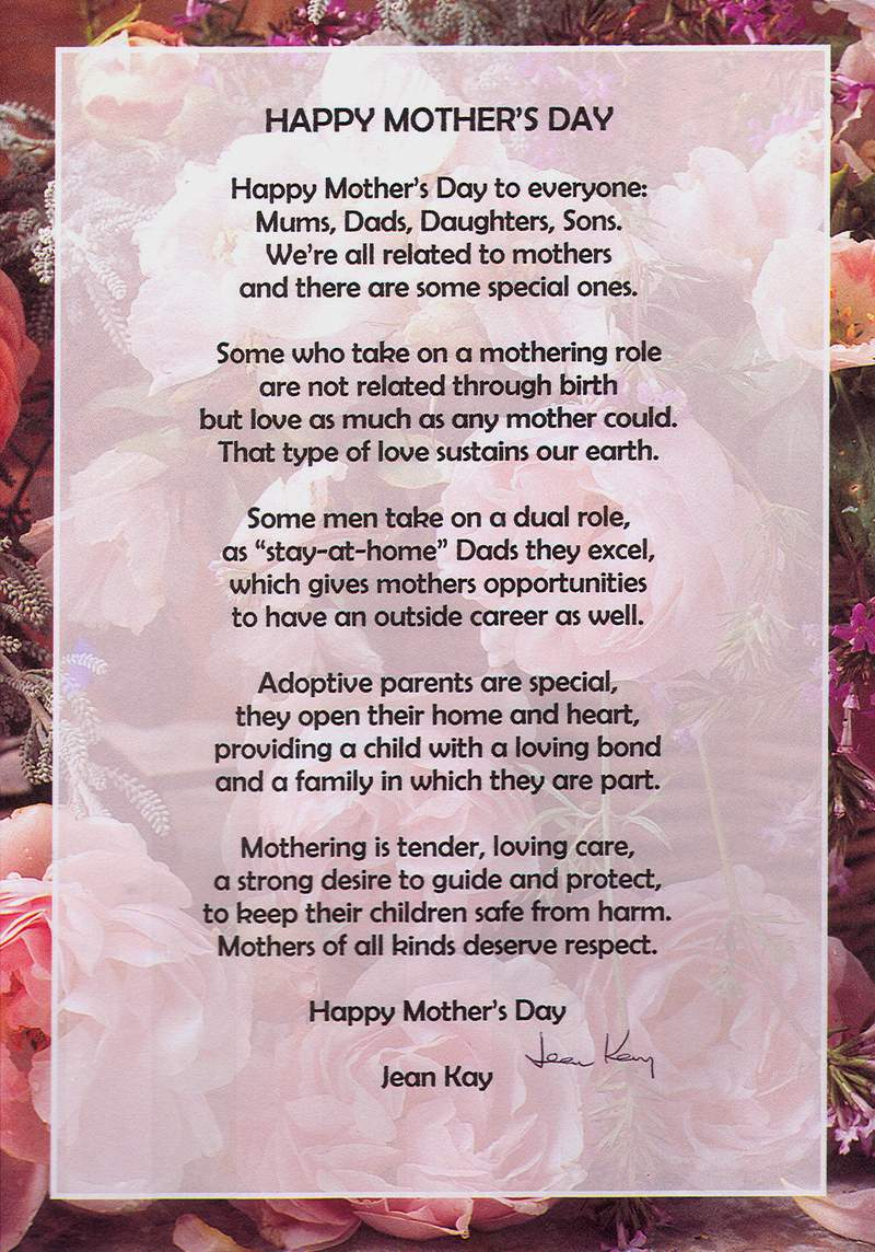 Heart touching poems on mother