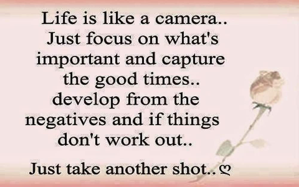 Life poems Life is like a camera