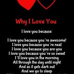 Why I Love You poem