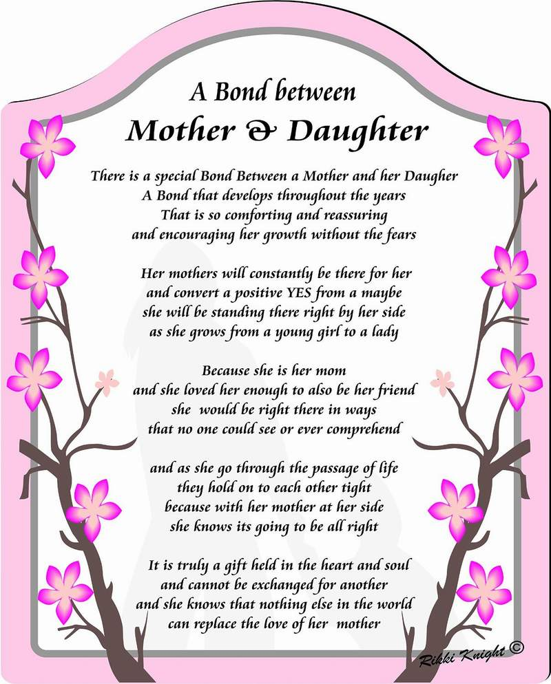 Mother And Daughter Poems Fun Chap