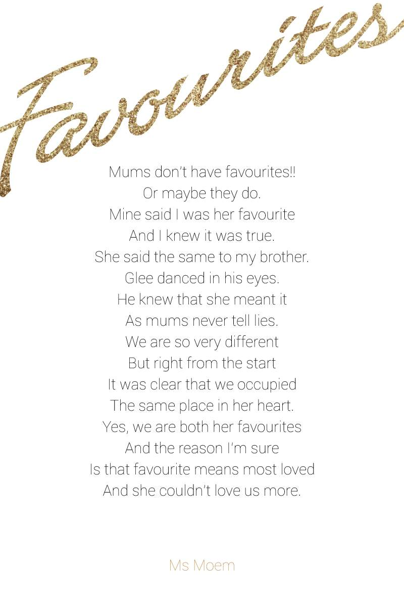 mothers day poem favourites