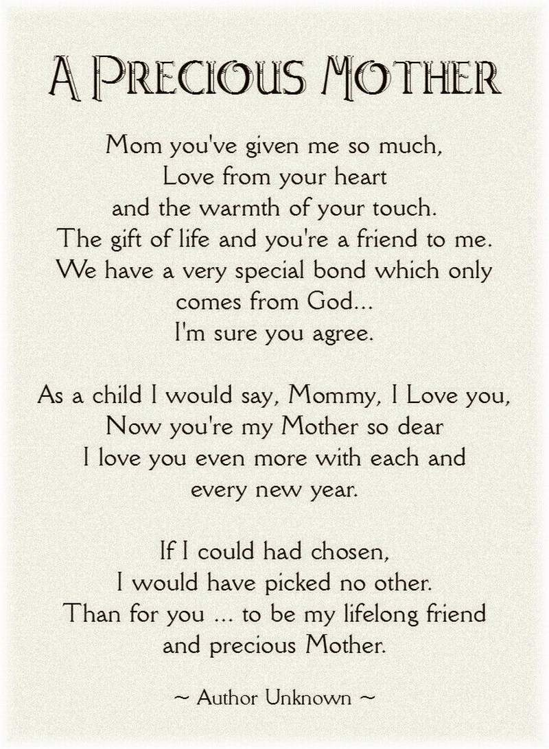 mothers day poem from daughter that will make her cry