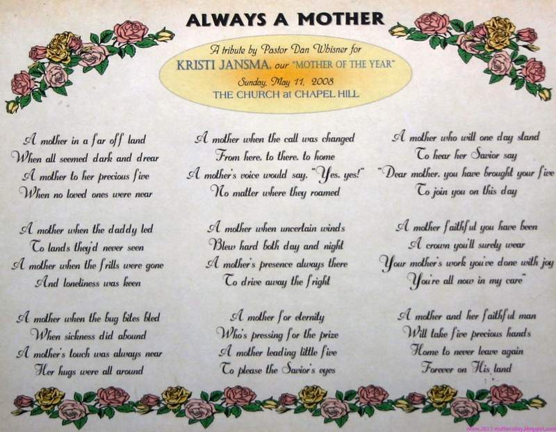 mothers day poems sweet