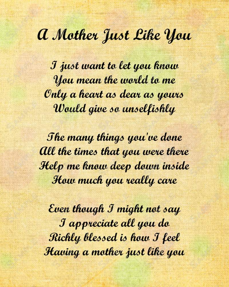 mothers day poems that make