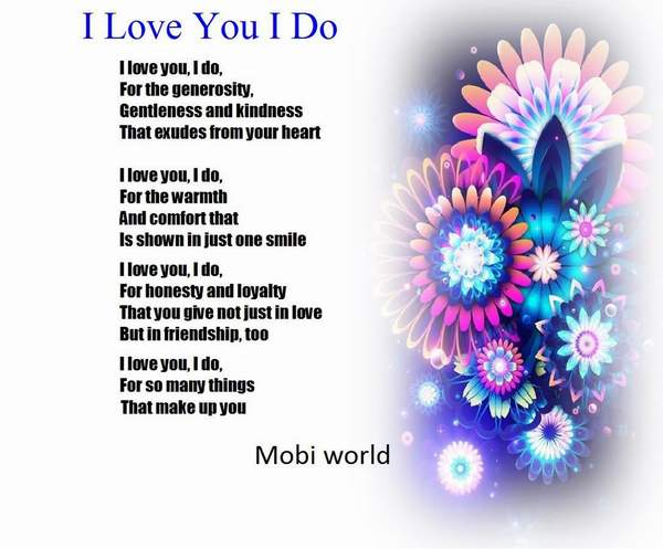 Sweet i love you poem